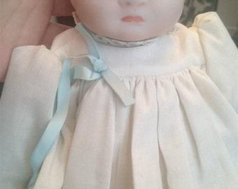 Vintage Grace S Putnam Bisque Porcelain and Cloth Baby Doll Reproduction Art Doll