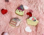Mini Sweets Pins - Tea Cakes Petit Fours Fruit Tart Blackberry Cheesecake Bite