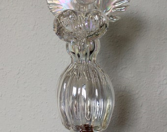 Hand Blown Glass Art Garden Art Sculpture Angel Oneil 7289
