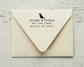 Self Inking Return Address Stamp, Dog Address Stamp, Return Address Stamp, Gifts for Dog Lovers, Dog Stamp, Personalized Stamp - Style #66