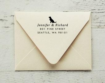 Self Inking Return Address Stamp, Dog Address Stamp, Return Address Stamp, Gifts for Dog Lovers, Dog Stamp, Personalized Stamp - Style #66
