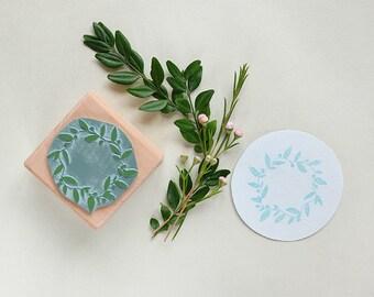 Floral Wreath Stamp | Flower Wreath | Flower Stamp | Invitation Stamp | Eco-Friendly Stamp | Garden Stamp | Canning Stamp | Wedding Stamp