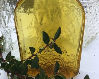 Vintage bottle, amber glass bottle