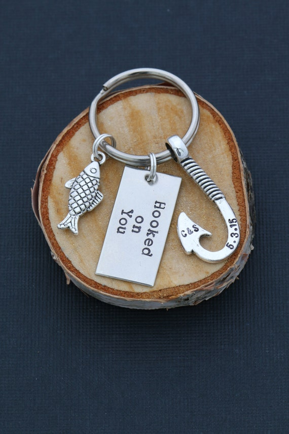 Free ship fishing gift boyfriend keychain husband gift him for Fishing gifts for him