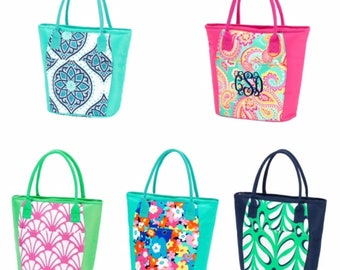 Beach Cooler Tote Summer Pattern Insulated Bag