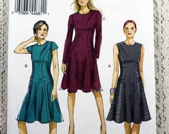 Vogue 8848, Misses' Dress Sewing Pattern, Vogue Easy Pattern, Easy Dress Sewing Pattern, Misses' Size 6, 8, 10, 12, 14, Uncut