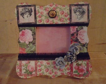 Graphic 45 Mon Amour Love Roses Decoupaged Picture Frame
