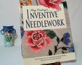 Inventive Needlework Book by Shay Pendray, Gold Work, Painted Canvas, Shading