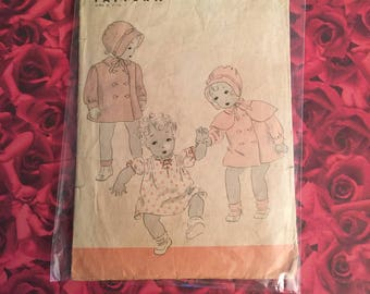 30's Vintage Child Hollywood Sewing Pattern