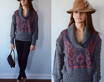 Vintage Just Cavalli Grey Pullover Sweater, Just Cavalli, Fall Sweater, Winter Sweater, Ladies Sweater, Sweaters