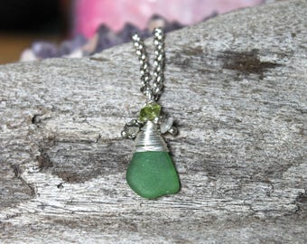 Sea Glass Jewelry from Hawaii - Hawaiian Jewelry for Beach Brides by Mermaid Tears - Ocean Inspired Sea Glass Necklace - Bohemian Jewelry
