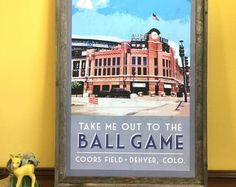 Coors Field Poster
