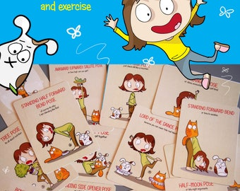 YOGA with PETS  - full oracle deck  (including one extra card)  Bestseller! - PookieCat