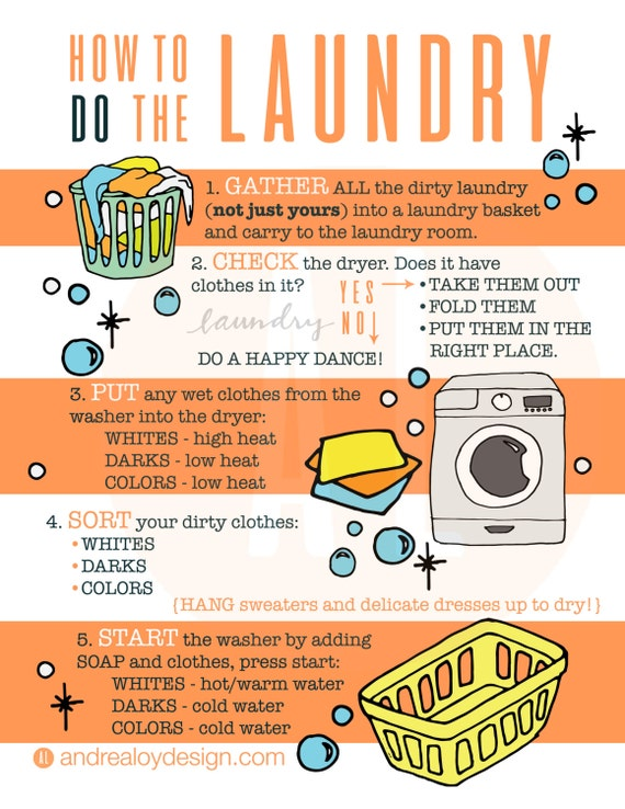 laundry infographic how to do laundry kids printable. Black Bedroom Furniture Sets. Home Design Ideas