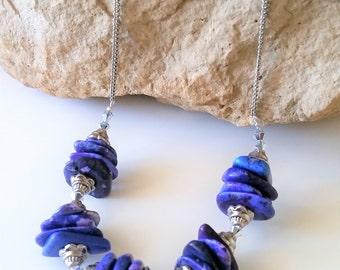 Purple Agate Statement Necklace - Gemstone Jewelry