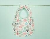 Jewel Print Baby Bib - Owlette Birdie Bib