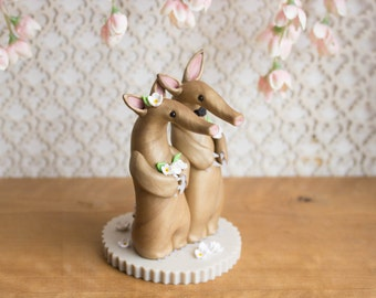 Aardvark Wedding Cake Topper by Bonjour Poupette