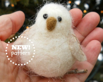 NEEDLE FELT PDF-Pattern. A Needle Felting Pattern. Woodland Baby Owl Ornament. A Great Gift For Your Favorite Needle Felter.