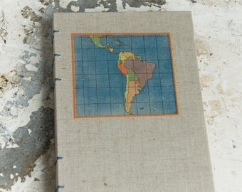 1941 SOUTH AMERICAN Vintage Travel Notebook Journal