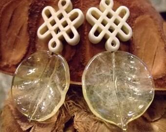 Lampwork Glass Earrings for Women, Handmade on Etsy, Artisan Art Assemblage, Gift for Her, Unique Gifts, Birthday, Wedding, Anniversary