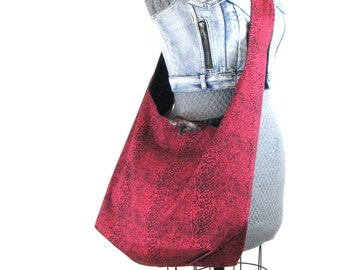 Pink Crossbody Bag  - Hobo Bag for Women - Sling Bag - Extra Large Tote Bag - Womens Cross Body Bag - Pink Handbag - Crossover Bag