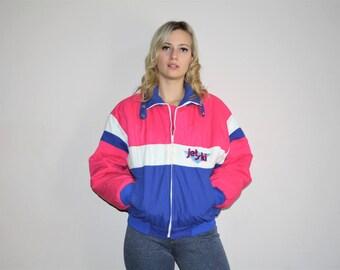 VTG 80s Colorblock Jet Ski Jacket Retro Winter Parka Coat - 1980s Parkas - 80s Clothing - WV0019