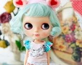 Sugarbabylove -Heart hairband for Blythe, momoko, licca, lati Yellow