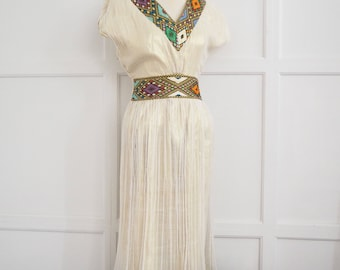 Ethiopian embroidered dress M