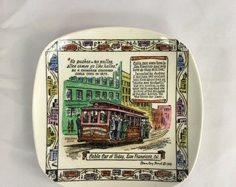 Vintage Royal Pottery Collectors Plate - San Francisco, CA (White)
