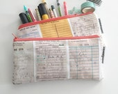 pencil pouch -- library card