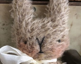Sweet little Otto mohair Easter bunny rabbit.