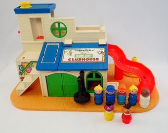 Fisher Price Little People LP Sesame Street Club House Playset Earnie Franklin Roosevelt Muppets