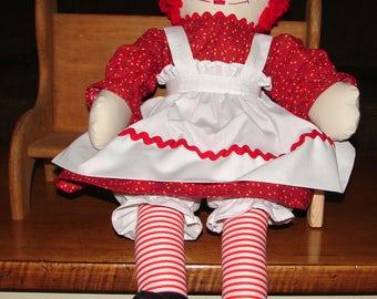 Raggedy Ann, 20 Inch Raggedy Ann Doll, Birthday Gift, New Baby Gift, Baby Shower Gift, Gift
