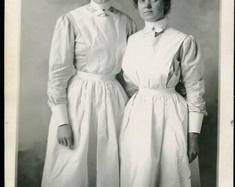 NURSES In UNIFORM Photo Postcard circa 1910