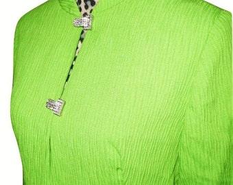 Vintage 1960s Emma Domb Chartreuse Duster Coat