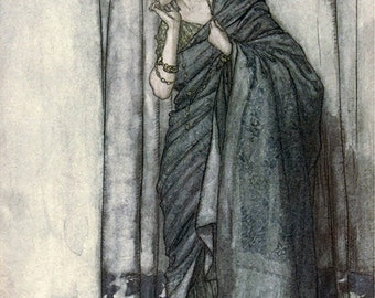 Helena, Arthur Rackham, Vinatge Art Print