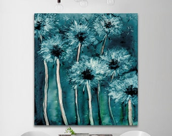 Watercolor Painting - Dandelion Wishes Floral Abstract Art Print