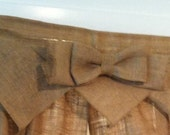 """Natural burlap 2 toppers with bow 35"""" by 18"""" Plus 4 additional Bows - dysfunctionaldoll082  only"""