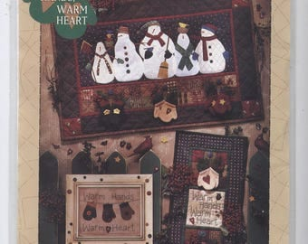 Warm Hands Warm Heart Debbie Mumm Quilted Appliqued Wall Hanging Pattern