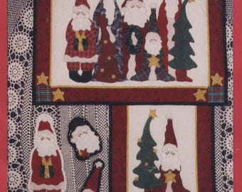 The Christmas Crew by Leslie Beck - Appliqued Wall Hanging & Christmas Ornaments Pattern
