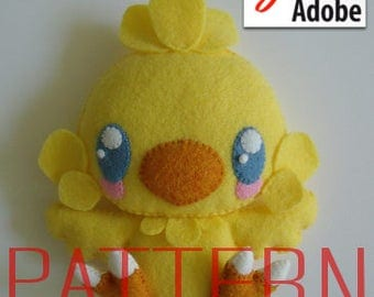 Instant Download - Final Fantasy Baby Chocobo PDF Pattern