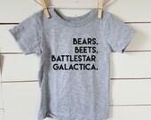 Dwight Schrute Toddler Tee Shirt. The Office. Free Shipping! Toddler T-Shirt. Cotton Tshirt. Bears Beets Battlestar Galactica. Jim Halpert.
