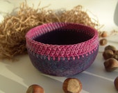 Felted Bowl, Wool Bowl, Soft Container, Bowl