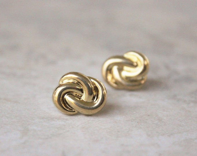 Gold Love Knot Earrings, Love Knot Jewelry, Wedding Jewelry, Bridesmaid Earrings, Inexpensive Earrings, Bridesmaid Gift, Costume Jewelry
