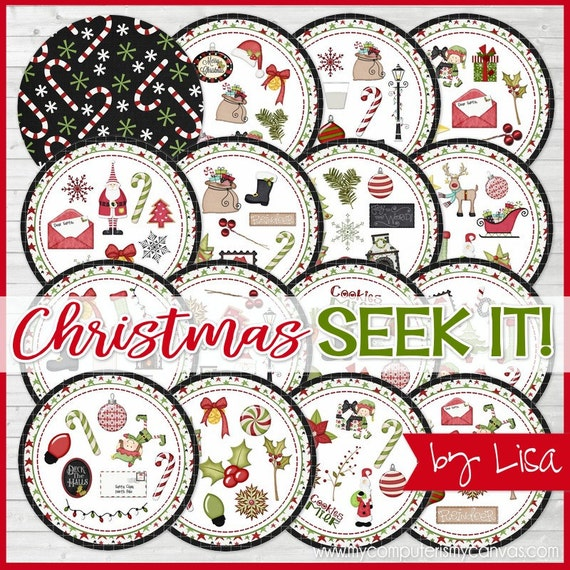 Christmas SEEK IT Match Game, Christmas Printables, Party, Family Game Night, Matching Game Cards - Printable Instant Download by Lisa