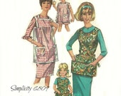 Vintage Apron Pattern Simplicity 6809 Mother Daughter Women's Size 18 - 20