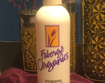 Rare Vintage 1980s Full Bottle of Normal Faberage Organics Hair Conditioner