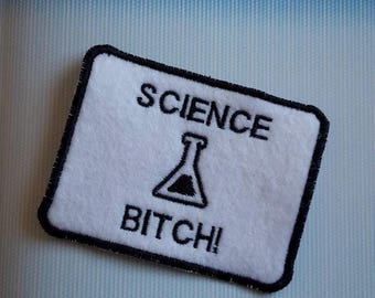 Breaking Bad 'Science Bitch!', Jesse Pinkman quote, black and white, rectangle patch patches UK