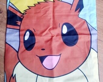 Pokemon, evie, brown character cushion cover, pillow case, Pikachu cushion, cushion, geek gift, gift for men, girl gamer