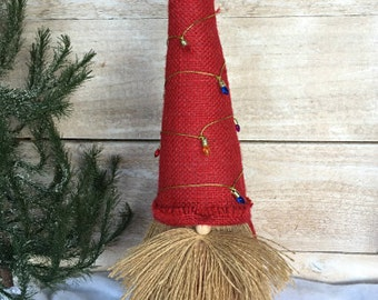 Christmas Gnome, Nordic Gnome, Scandinavian Gnome, Christmas Decoration, Christmas Gift, Tomte, Nisse, Tomtar,  Gift for Her, Burlap Gnome
